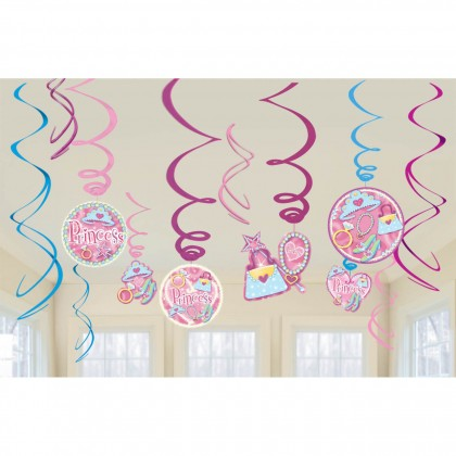 Princess Value Pack Foil Swirl Decorations
