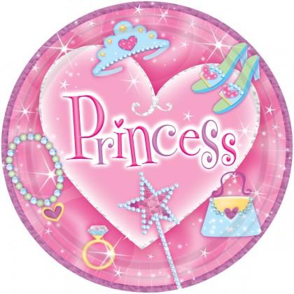 "Princess Prismatic Round Plates, 9"""