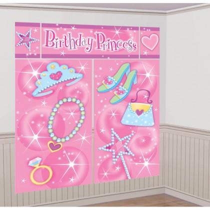 Princess Scene Setters® Wall Dec. Kit - Plastic