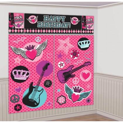 Rocker Princess Scene Setters® Wall Dec. Kit - Plastic