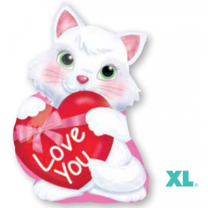 "S50 20"" Kitty with Heart Junior Shape XL®"