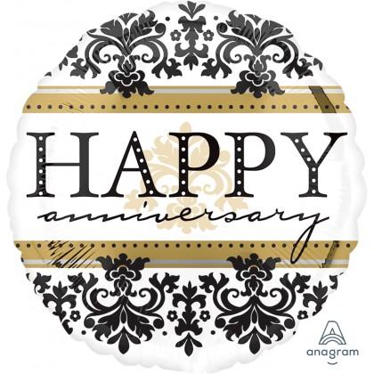 "S40 17"" Happy Anniversary Damask Standard HX®"