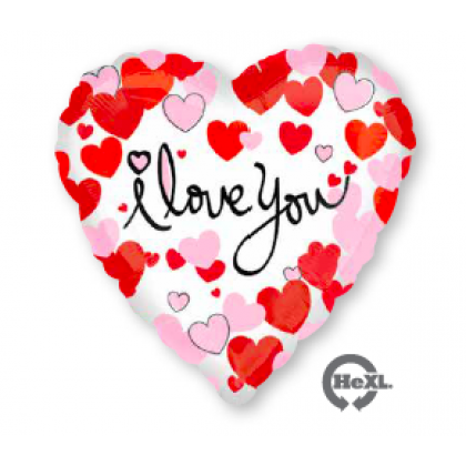 "S40 17"" Heart Equal Love Standard HX®"