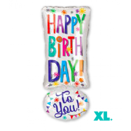 """S50 25"""" HBD to you Exclamation ! Junior Shape XL®"""