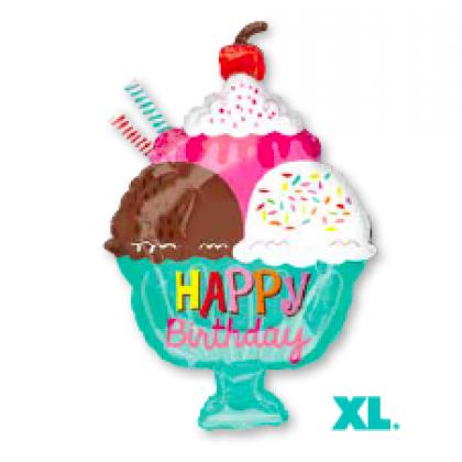 "S50 23"" Ice Cream Sundae HBD Junior Shape XL®"