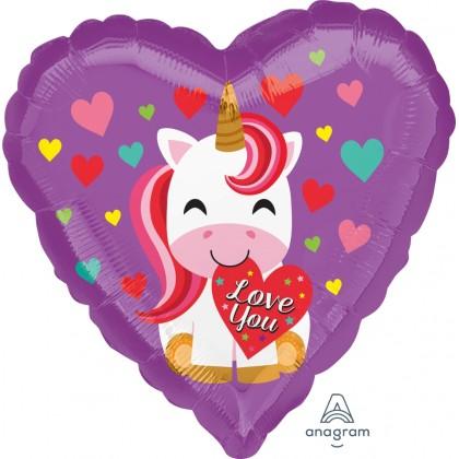 "S40 17"" Love You Unicorn Standard HX®"