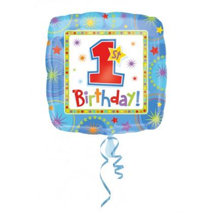 """S40 17"""" ONE-DERFUL Boy 1ST Birthday Standard HX®"""