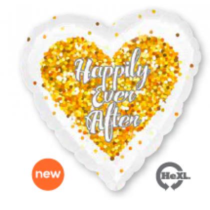 """S40 17"""" Confetti Wedding Heart Standard HX®"""