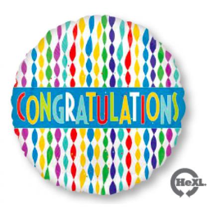 "S40 17"" Congratulations Banner in Streamers Standard HX®"