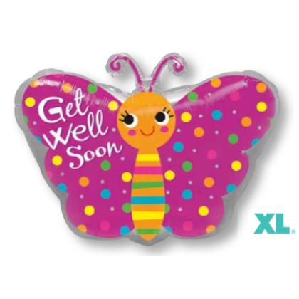 """S50 17"""" Get Well Butterfly Junior Shape XL®"""