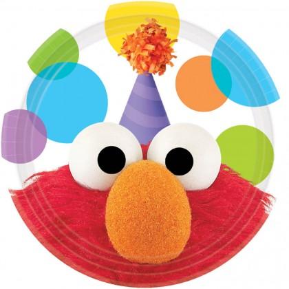 Elmo's® Party Round Plates, 7'