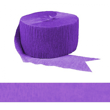 "1 3/4"" x 81' FR 81' Solid Crepe Streamers New Purple"