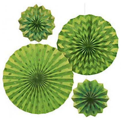 4 Paper Fans - Kiwi
