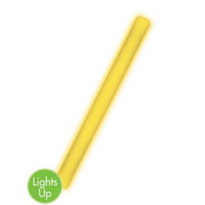 "18"" Foam Light-Up Glow Sticks - Yellow"