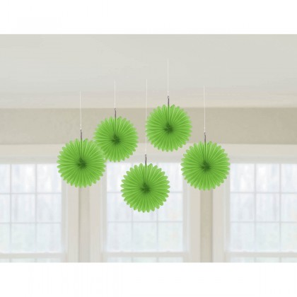 "6"" 6"" Mini Hanging Fan Decorations Kiwi"