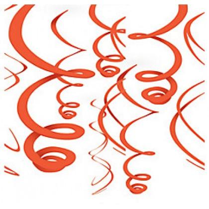 "22"" Plastic Swirl Decorations Orange Peel"