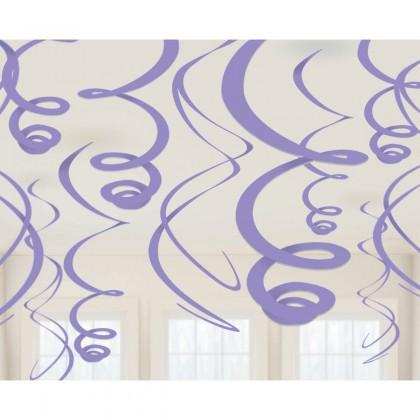 "22"" Plastic Swirl Decorations New Purple"