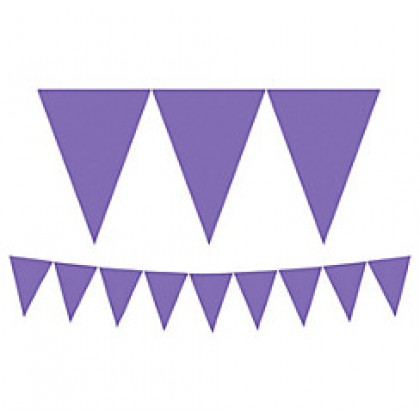 """24 Pennants, 7"""" x 6"""" Paper Pennant Banners - New Purple"""