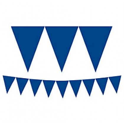 """24 Pennants, 7"""" x 6"""" Paper Pennant Banners - Bright Royal Blue"""