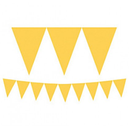 """24 Pennants, 7"""" x 6"""" Paper Pennant Banners - Yellow Sunsine"""