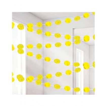 Round String Decorations - Yellow Sunshine