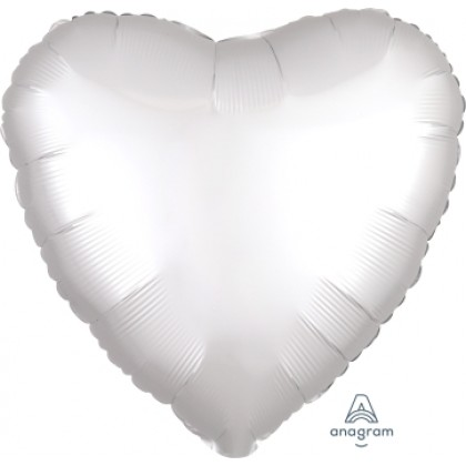 "S15 17"" Satin Luxe™ White Satin Standard Heart HX®"