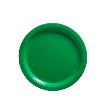 "Festive Green Plates, 9"" - Paper"