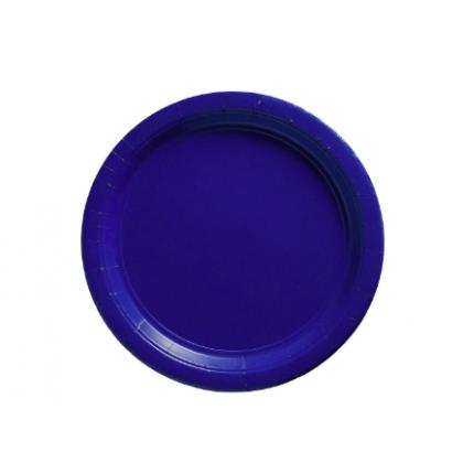 "Bright Royal Blue Plates, 9"" - Paper"