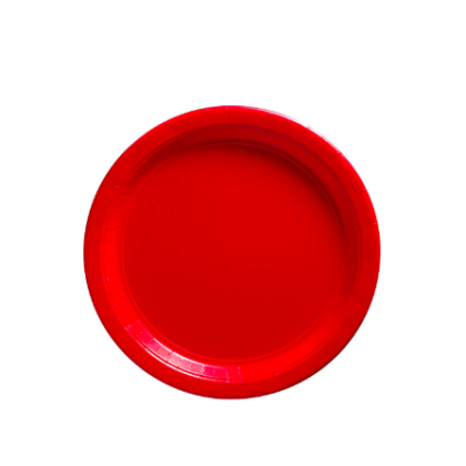 """Apple Red Plates, 9"""" - Paper"""