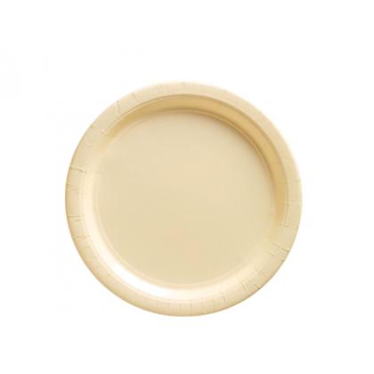 """Vanilla Crème Plates , 9"""" - Paper"""