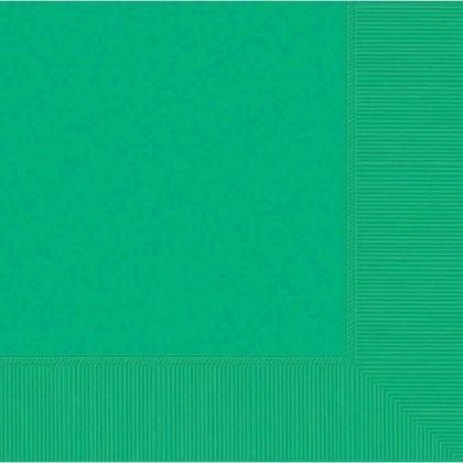 Festive Green 2-Ply Beverage Napkins - Paper