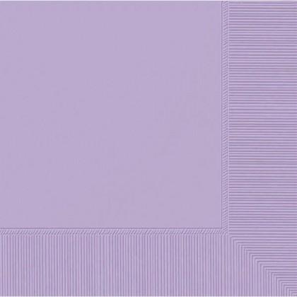 Lavender 2-Ply Beverage Napkins - Paper