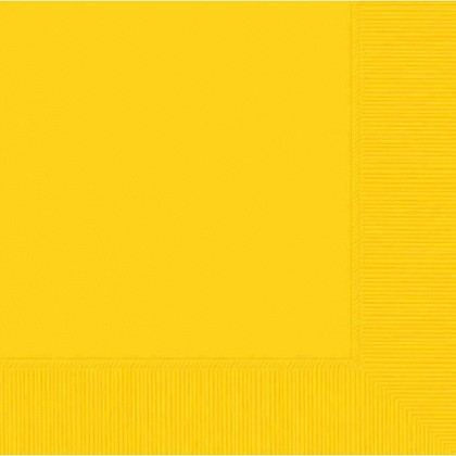 Yellow Sunshine 2-Ply Beverage Napkins - Paper