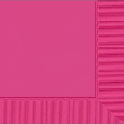 Bright Pink 2-Ply Beverage Napkins - Paper
