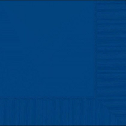 Bright Royal Blue 2-Ply Beverage Napkins - Paper