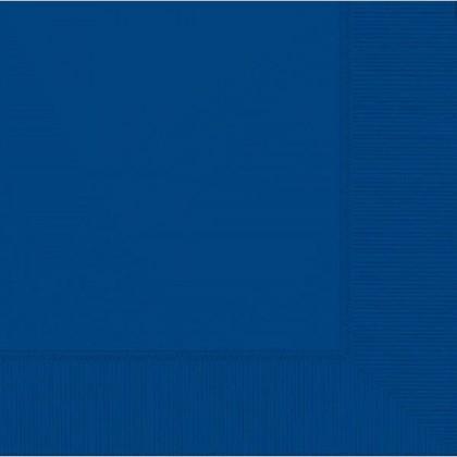 Bright Royal Blue 2-Ply Beverage Napkins - Paper