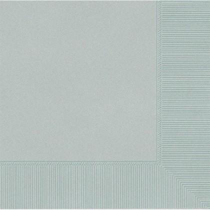 Silver 2-Ply Beverage Napkins - Paper