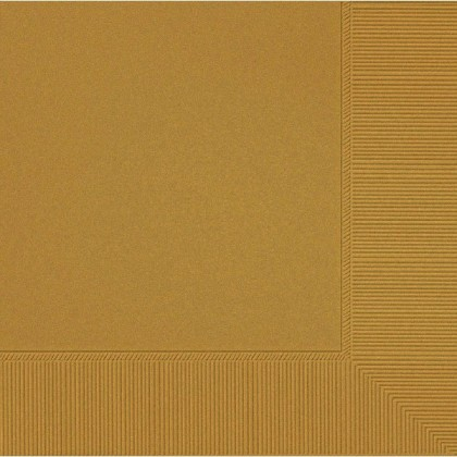 Gold 2-Ply Beverage Napkins - Paper