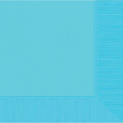 Caribbean Blue 2-Ply Beverage Napkins - Paper