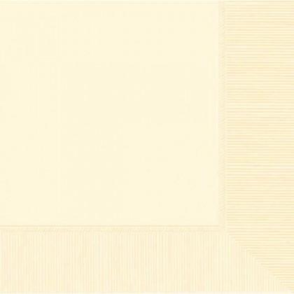Vanilla Creme 2-Ply Beverage Napkins - Paper