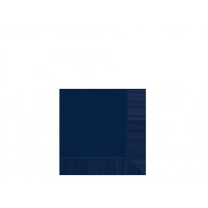 Navy Flag Blue 2-Ply Beverage Napkins - Paper
