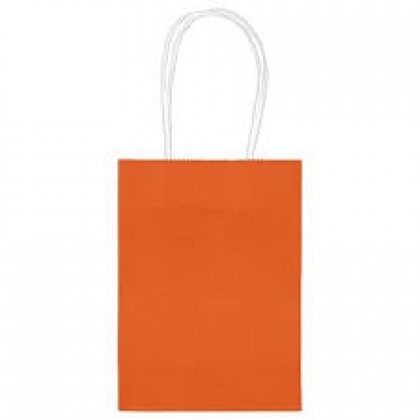 "5""H x 3 5/16""W x 2""D Kraft Paper Bags Orange Peel"