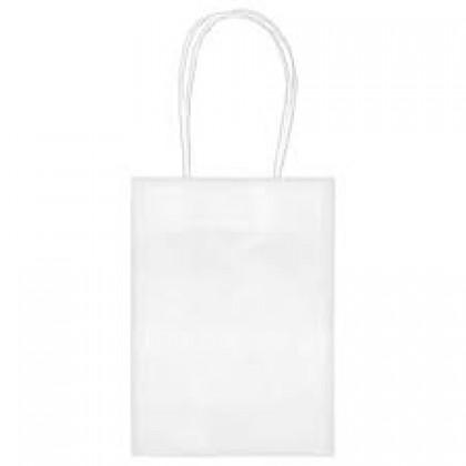 """5""""H x 3 5/16""""W x 2""""D Kraft Paper Bags White"""