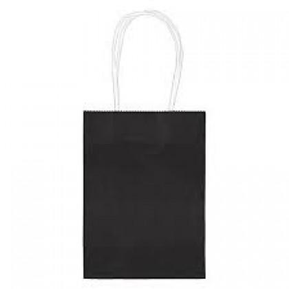 """5""""H x 3 5/16""""W x 2""""D Kraft Paper Bags Black"""
