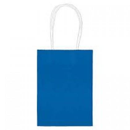 "5""H x 3 5/16""W x 2""D Kraft Paper Bags Bright Royal Blue"
