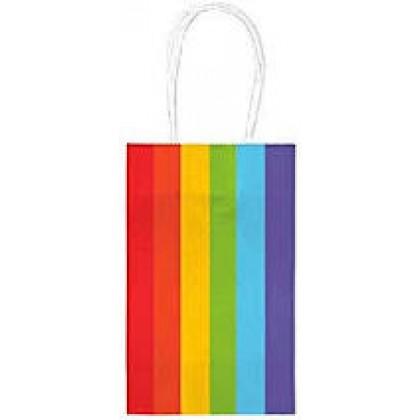 """5""""H x 3 5/16""""W x 2""""D Kraft Paper Bags Rainbow"""