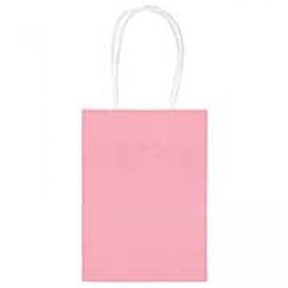 """5""""H x 3 5/16""""W x 2""""D Kraft Paper Bags New Pink"""