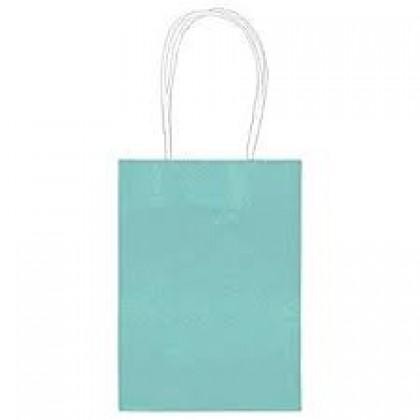 "5""H x 3 5/16""W x 2""D Kraft Paper Bags Robin's-egg Blue"