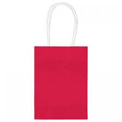 """5""""H x 3 5/16""""W x 2""""D Kraft Paper Bags Apple Red"""