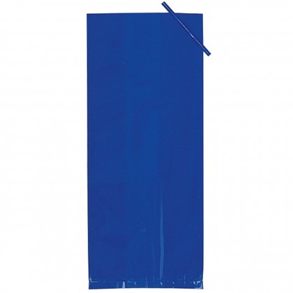 "11 1/2""H x 5""W x 3 1/4""D Cello Party Bags BRIGHT ROYAL BLUE (Large)"